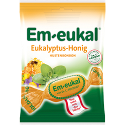 EM EUKAL Bonbons Eukalyptus-Honig zuckerhaltig 75 g