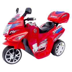Actionbikes Motors Elektro-Kinderdreirad Kinder Elektroauto C051, Belastbarkeit 25 kg, Elektro Motorrad / Auto / Dreirad bis zu 3km/h rot