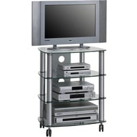 Maja Möbel 1611 TV-Rack Metall Alu/Klarglas