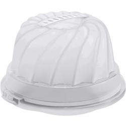 Rotho FRESH Gugelhupf- Kuchenbehälter, Aus Kunststoff, Maße: 305 x 285 x 175 mm, Farbe: transparent / weiß