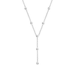 Elli Elli Halskette Y-Kette Kreis Geo Kristalle 925 Silber