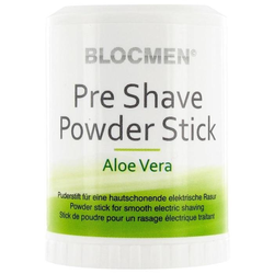 BlocMen Aloe Vera Pre Shave Powder Stick New