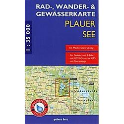 Rad-  Wander- und Gewässerkarte Plauer See - Buch