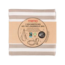 2 memo Geschirrtücher aus Bio-Baumwolle, Fairtrade, 50 x 70 cm