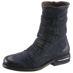 A.S.98 TEAL Bikerboots in coolen Used Look grau 35