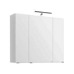 Lichtspiegelschrank in Weiß Steckdose