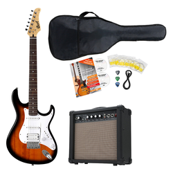 Cort G110 BK3 2-Tone Sunburst E-Gitarre Set