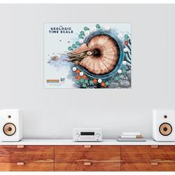 Posterlounge Wandbild, Die Erdzeitalter (Englisch) 90 cm x 70 cm