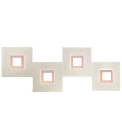 Grossmann Karree LED Wand- / Deckenleuchte perlglanz, 4-flg., Dim-to-Warm