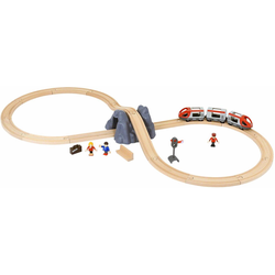 BRIO® Spielzeug-Eisenbahn BRIO® WORLD Eisenbahn Starter Set A, (Set), mit Spielzeugeisenbahn; Made in Europe