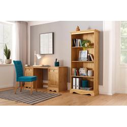 Home affaire Schreibtisch Melissa, aus schönem massivem Kiefernholz, Breite 150 cm beige