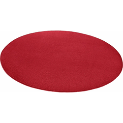 Teppich Fancy, HANSE Home, rund, Höhe 7 mm, Kurzflor, gekettelt rot Ø 133 cm x 7 mm