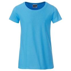 T-Shirt für Mädchen | James & Nicholson sky-blue 110/116 (S)