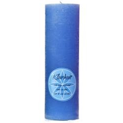 Chakra Kerze Klarheit in blau Höhe ca. 23 cm