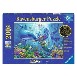 Ravensburger Puzzle Leuchtendes Unterwasserparadies, Star Line, 200 Puzzleteile