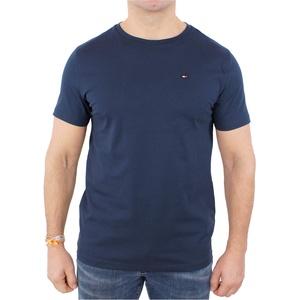 Tommy Hilfiger Herren Cotton cn Tee ss icon T-Shirt, Blau (Navy Blazer-Pt 416), One Size (Herstellergröße: MD)