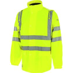 Warnschutz Regenjacke EN20471 3.2 gelb