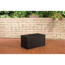CLP Auflagenbox Auflagenbox 5mm, Gartentruhe für Kissen und Auflagen schwarz