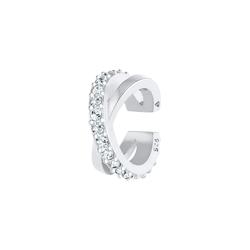 Elli Elli Ohrringe Earcuff Gekreuzt Kristalle 925 Silber