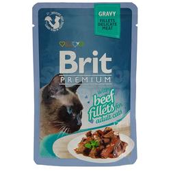 Brit Cat Rind Gravy Nassfutter Katzenfutter Frischebeutel (12 x 0,085 kg)