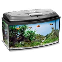 Aquael Aquarium Set CLASSIC LT inkl. Abdeckung, Filter, Heizer, LED Beleuchtung 40x25x25 gewölbt