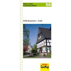 Nordrhein-Westfalen Wanderkarte 58. Netphen Siegen Freudenberg Betzdorf 1 : 25.000