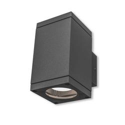 Kiom Wandleuchte Außen-Wandleuchte Patoro S 2x35 W GU10 IP54 d-grau