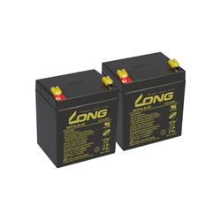 Kung Long 2x 12V 4,5Ah kompatibel Patientenlifter Clino AGM Bleiakkus