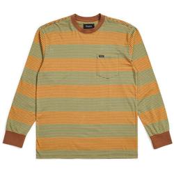 Tshirt BRIXTON - Hilt L/S Pkt Bison (BISON) Größe: XL