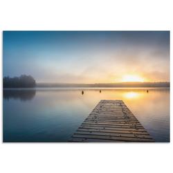 Artland Wandbild Sonnenaufgang am See, Sonnenaufgang & -untergang (1 Stück) 30 cm x 20 cm