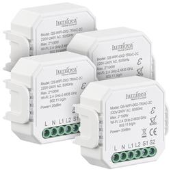 4er-Set WLAN-Unterputz-2-Kanal-Lichtschalter & -Dimmer, App