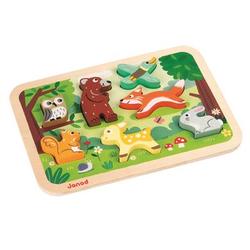 Janod® Chunky Holzfiguren-Puzzle - Wald, 7 Teile