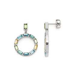 LEONARDO Paar Ohrstecker Grafica, 021372, mit Kristallglas