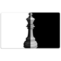 Wallario Frühstücksbrett Schachfigur schwarz-weiß, ESG-Glas, (1-St), 14 x 23 cm
