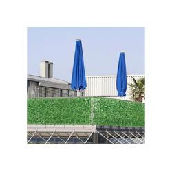 Sichtschutzzug, neu.haus, Blätterzaun Efeu Sichtschutzzaun Balkon 300x100cm Grün 300 cm x 100 cm
