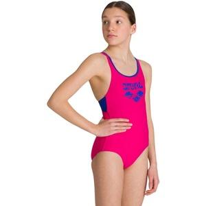 ARENA Mädchen Badeanzug Mädchen Sport Badeanzug Spray, Freak Rose-Royal, 140, 003564