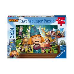 Ravensburger Puzzle Unser kluges Köpfchen Wickie, 2 x 20/2 x 24 Teile, Puzzleteile