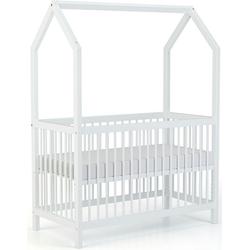 Geuther Babybett Cozy-Do, 4-in-1 Bett; Made in Germany; Beistellbett, Kinderbett, Juniorbett und Spielhaus in Einem! weiß