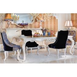 Casa Padrino Luxus Barock Esszimmerstuhl Set - 6 Küchen Stühle im Barockstil - Barock Esszimmer Möbel