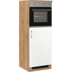 HELD MÖBEL Backofen/Kühlumbauschrank Colmar 60 cm breit, 165 cm hoch, geeignet für Einbaukühlschrank und Einbaubackofen weiß