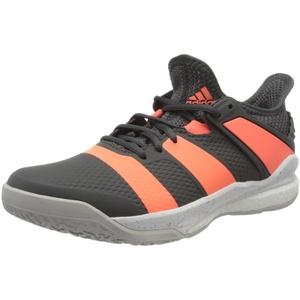 adidas Herren Stabil X Handball Shoe, Grey/Signal Coral/Grey, 43 1/3 EU