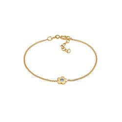 Elli Armband Kinder Blume Kristalle 925 Silber Armbänder gold Gr. 14,0 Mädchen Kinder
