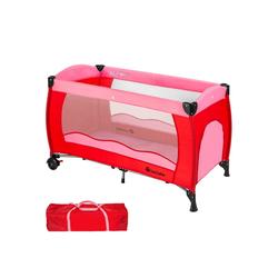 tectake Baby-Reisebett Kinderreisebett rosa