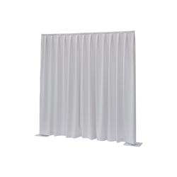 Wentex Pipes & Drapes Vorhang Molton, 3x3m, 300g/m², weiß