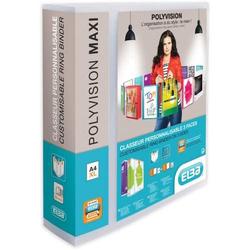 Ringbuch Polyvision maxi A4 4 Ringe 50 mm farblos