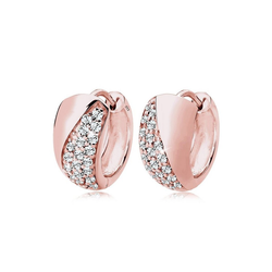Elli Paar Creolen Creolen Elegant Swarovski® Kristalle Silber rosa