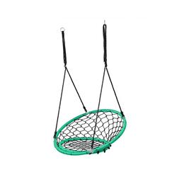 COSTWAY Nestschaukel Hängeschaukel, Baumschaukel, Tellerschaukel, 100-160cm Seil, 150kg Tragkraft grün