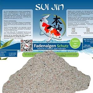 SUI JIN Teichprodukte Fadenalgen Schutz für 50.000 Liter Wasser bis zu 3 Monate Langzeitschutz Fadenalgenvernichter