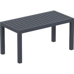 Lounge Tisch OCEAN I Wetterfester Gartentisch aus UV-beständigem Kunststoff I wetterfest und UV-beständig I robuster Gartentisch... dunkelgrau