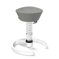 3D-Aktiv-Bürodrehstuhl Swopper aeris grau, Designer Henner Jahns, 52-66 cm